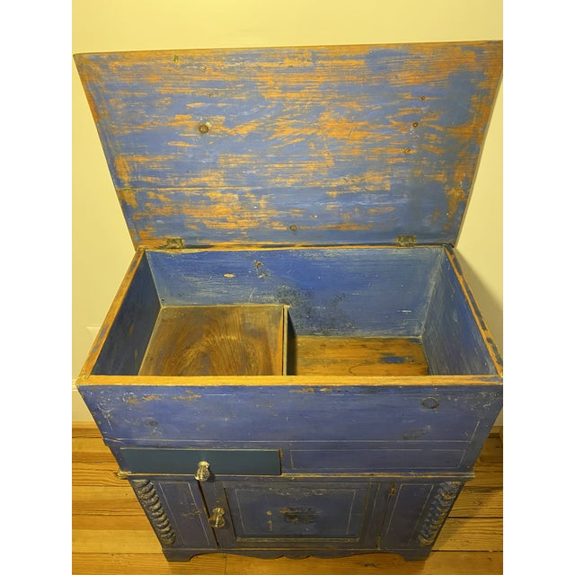 Antique Swedish Commode or Chest With Original Paint For Sale - Image 12 of 13