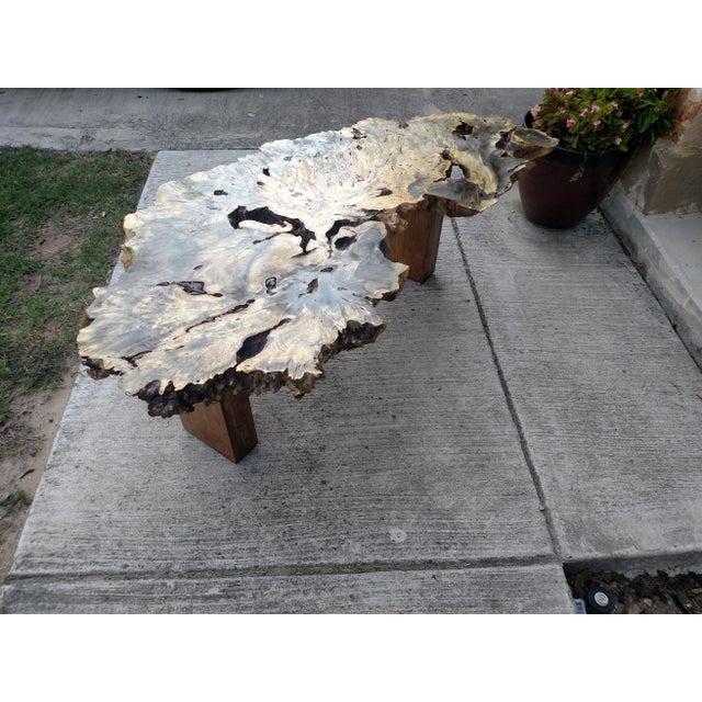 Gambrell Renard Burl Wood Coffee Table - Image 6 of 6