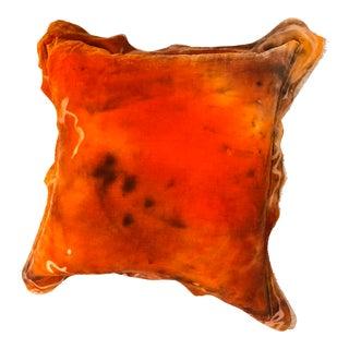 Custom Made Orange Velvet Pillow