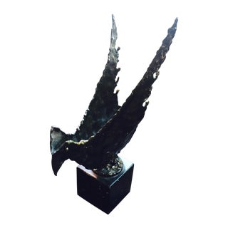 """Phoenix"", Fantoni Metal Torch-Cut Sculpture For Sale"