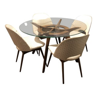 1960s Mid-Century Modern Adrian Pearsall Dining Set - 5 Pieces For Sale