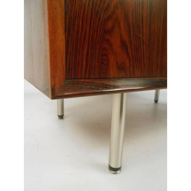 Brown Danish Modern Rosewood Cabinets - a Pair For Sale - Image 8 of 10