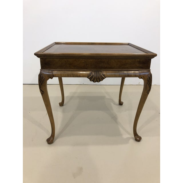 Queen Anne Vintage Baker Furniture Mahogany Side Table For Sale - Image 3 of 10