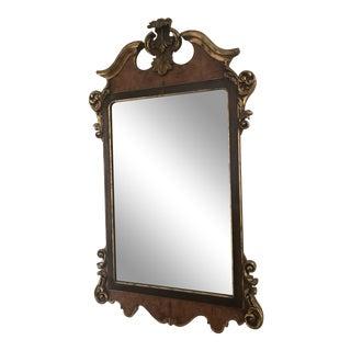La Barge Georgian Style Burled Walnut Inlay Mirror For Sale