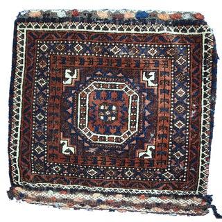 1900s Afghan Baluch Bag - 1′4″ × 1′6″ For Sale