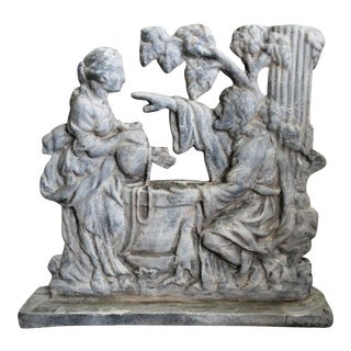 Early English Biblical Scene Doorstop