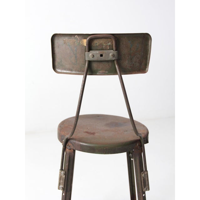 Vintage Industrial Drafting Stool For Sale - Image 6 of 10
