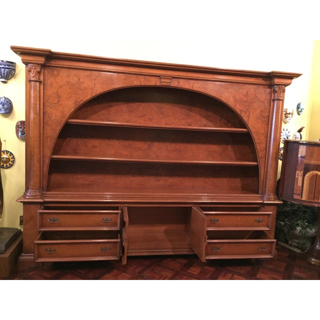 Vintage ABC Carpet & Home Italian Wood Bookcase and Sideboard For Sale - Image 9 of 9
