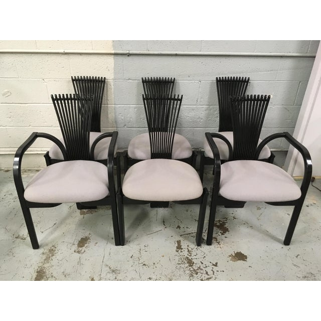 1980s Totem Chairs by Torstein Nilsen for Westnofa - Set of 6 For Sale - Image 5 of 5