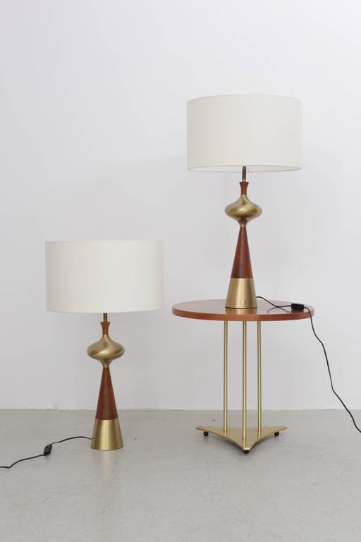 Set of Two Table L&s in Walnut and Brass by Tony Paul for Westwood 1950s  sc 1 st  Decaso & Superb Set of Two Table Lamps in Walnut and Brass by Tony Paul for ...