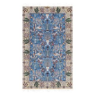 "Persian Nain Silk & Wool Rug-3'7"" X 5'11"" For Sale"