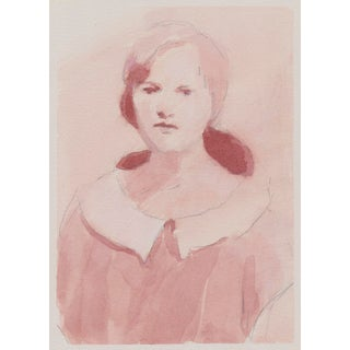 Original Portrait Study Ink Painting For Sale