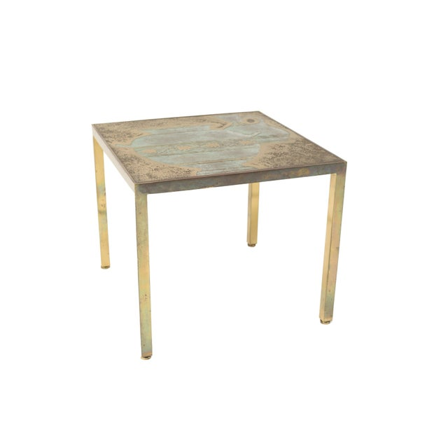 Gold Bronze Harvey Probber Cocktail Table For Sale - Image 8 of 8