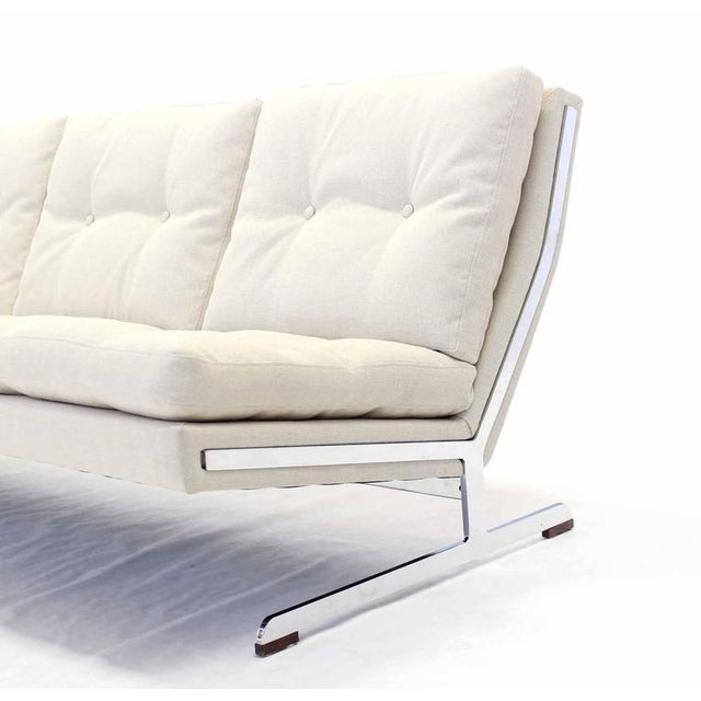 Mid-Century Modern Mid-Century Modern Chrome Frame Sofa New Upholstery For Sale - Image 3 of 8