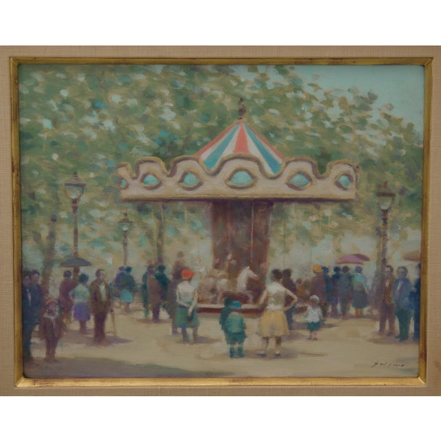This stylish and charming painting was recently acquired from a Palm Beach estate and was created by the American painter...