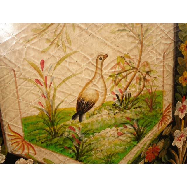Vintage French Country Maitland Smith Style Wall Panels Floral Pictures For Sale - Image 11 of 12