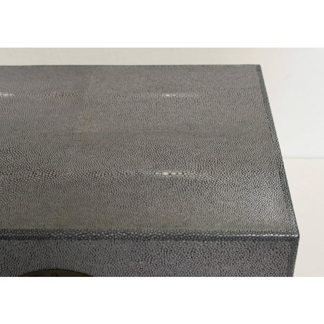 Gray Shagreen Wood Box For Sale In Palm Springs - Image 6 of 8