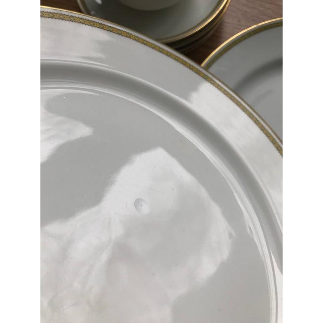 White Limoges Art Deco Bone China Dinnerware For Sale - Image 8 of 12