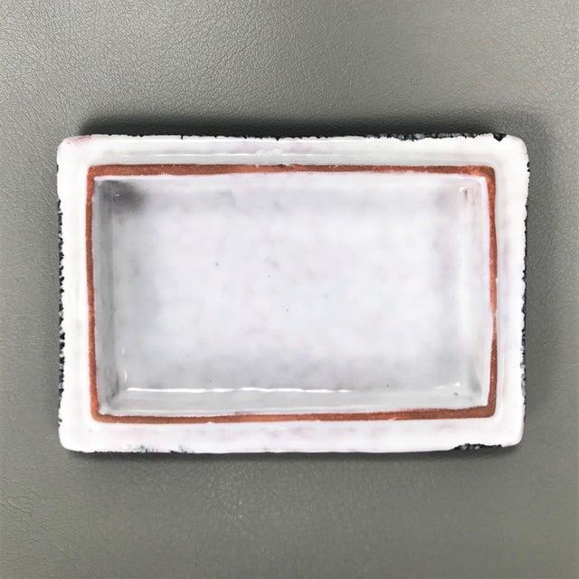 Ceramic Vintage Mid Century Classicism Italian Ceramic Table Box For Sale - Image 7 of 9