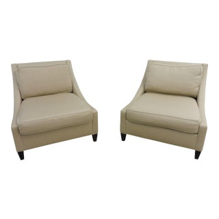 Contemporary Barbara Barry for Baker Lounge Chairs - a Pair
