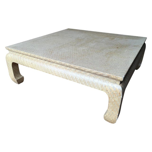 Mid 20th Century 20th Century Regency Baker Raffia Wrapped Ming-Leg Coffee Table For Sale - Image 5 of 6