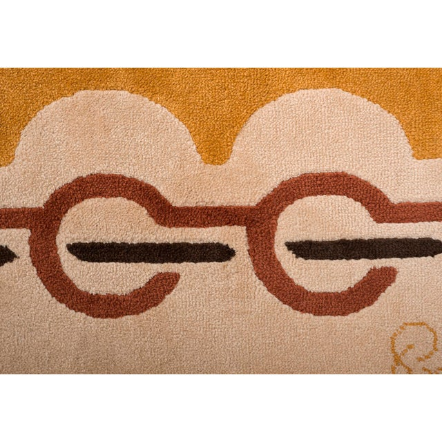 Textile Modernist Wool Rug by Pierre Cardin in Golden Yellow, Denmark 1960s For Sale - Image 7 of 11