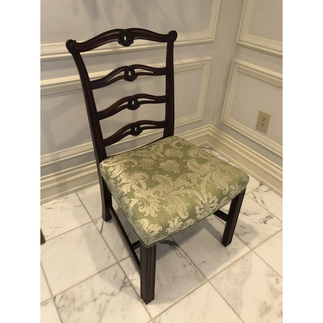 English Chippendale Style Ribbon Back Dining Chairs - Set of 6 For Sale - Image 3 of 11