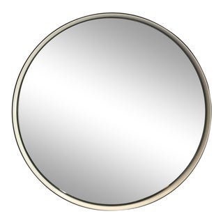Black Rim Round Wall Mirror For Sale