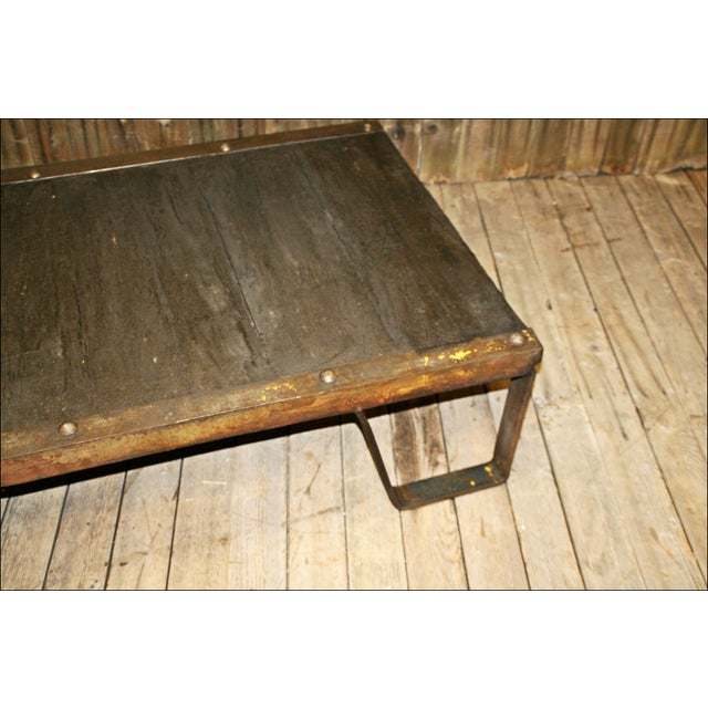 Vintage Industrial Iron & Wood Pallet Table Base - Image 5 of 11