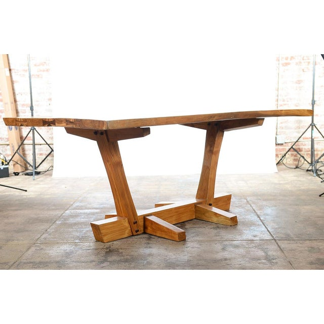 Mid-Century Modern George Nakashima Style Conoid Dining table For Sale - Image 3 of 10