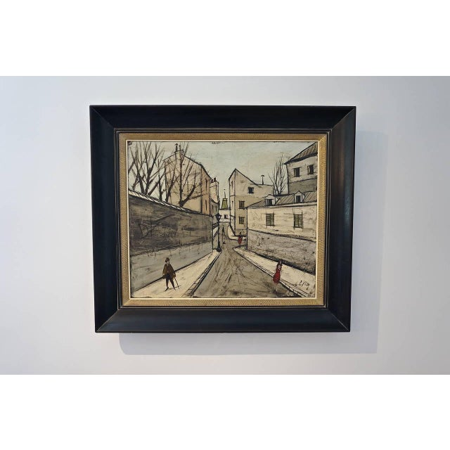Canvas Mid-Century Oil Painting by French Artist Charles Levier For Sale - Image 7 of 11