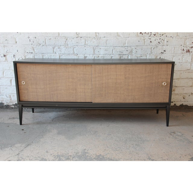 Paul McCobb Planner Group Mid-Century Modern Ebonized Low Credenza For Sale - Image 11 of 11