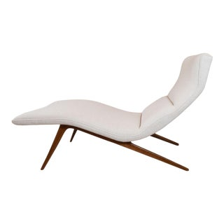 Vintage Undulating Chaise Lounge For Sale