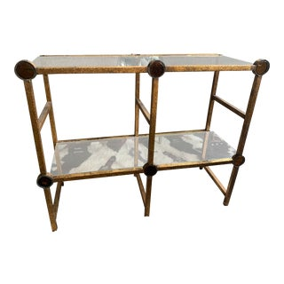 Small Brass Two-Tier Console For Sale