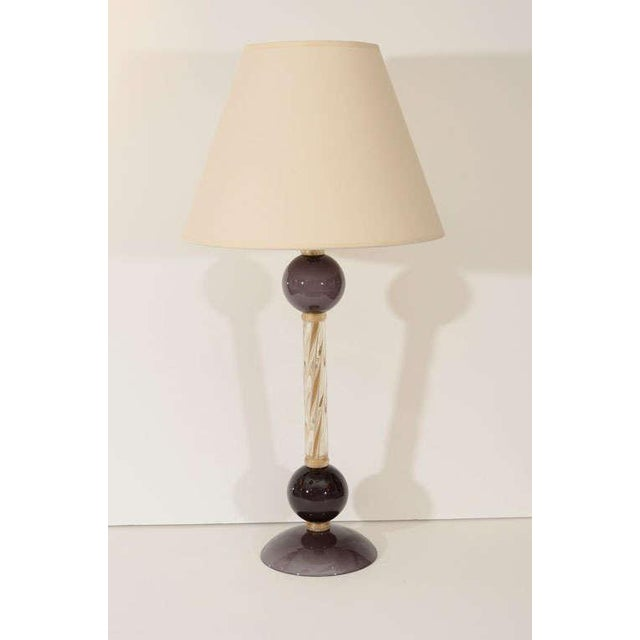 Italian Murano Glass Lamps - A Pair For Sale - Image 3 of 8
