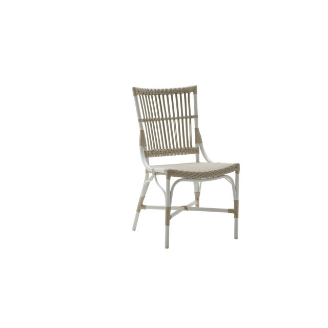 Piano Exterior Side Chair - Dove White For Sale - Image 4 of 4