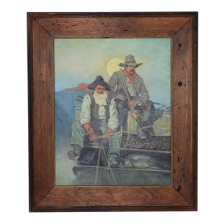 "Vintage ""Tucson Cowboys"" Original Oil Painting For Sale"