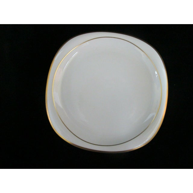 Ceramic Vintage Rosenthal Studio Banquet Suomi Series Gold Gilt Cup Plate Setting - 5 Piece Set For Sale - Image 7 of 9
