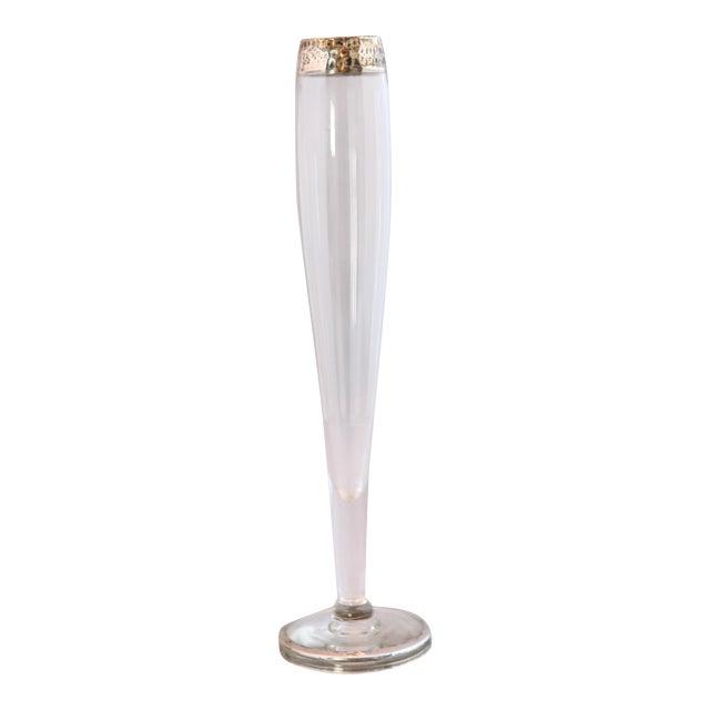 Antique Hammered Sterling & Crystal Bud Vase - Image 1 of 9