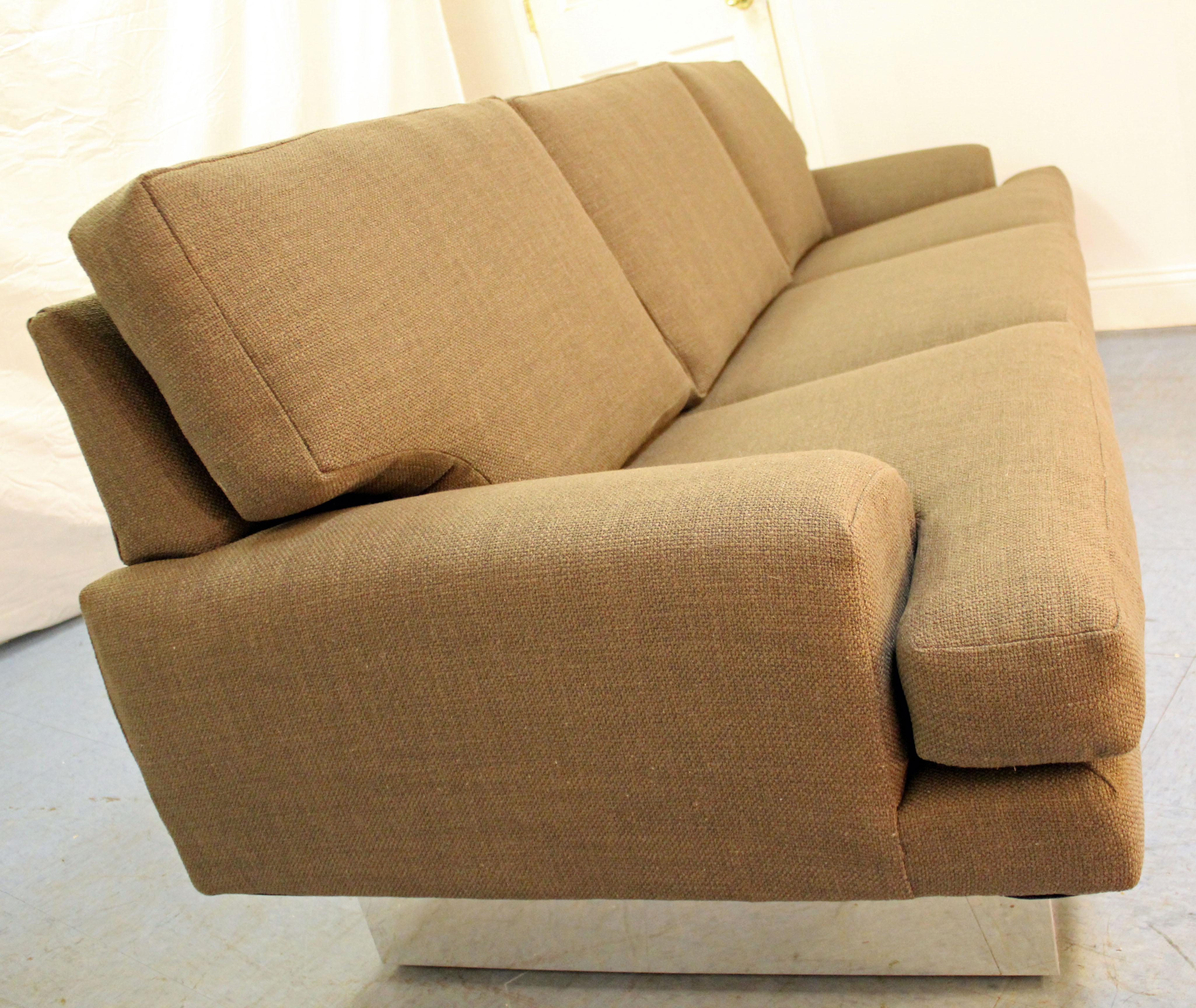 Milo Baughman Thayer Coggin Chrome Base Sofa   Image 6 Of 10