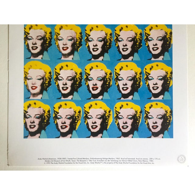 """Andy Warhol Andy Warhol Foundation Rare 1993 Lithograph Print """"Twenty Five Marilyns"""" 1962 For Sale - Image 4 of 10"""