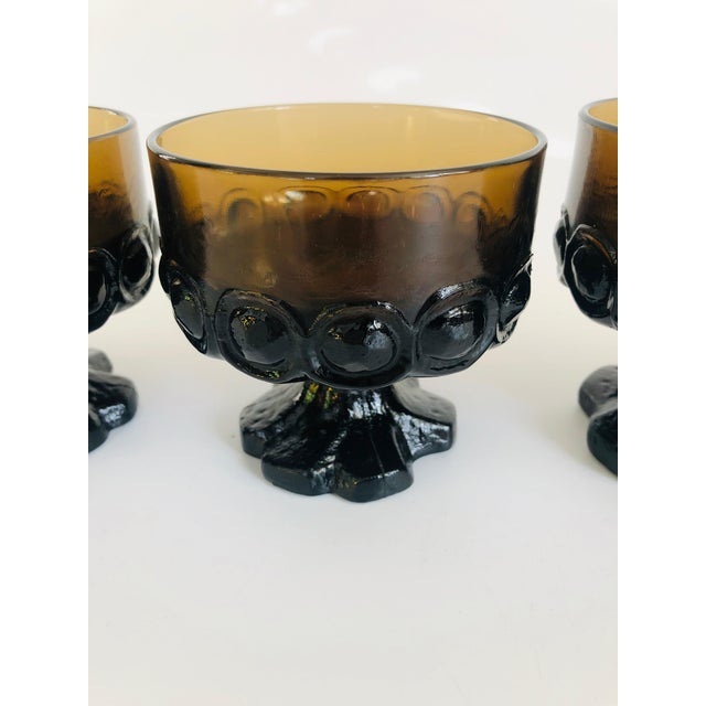 Vintage 1970s Tiffin Franciscan Madeira Coupe Glasses - Set of 4 For Sale - Image 4 of 6