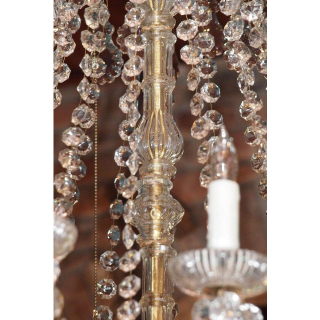 Gold Antique French Crystal And Bronze 16-light Chandelier. For Sale - Image 8 of 9