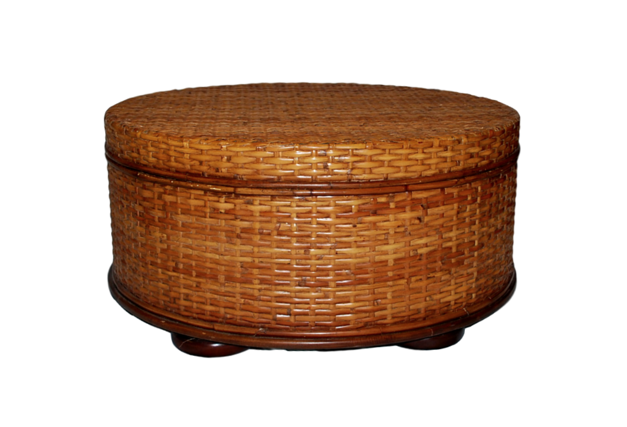 Old World Map Coffee Table.Bassett Woven Rattan Old World Map Interior Coffee Table Ottoman