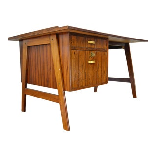 Danish Modern Architect Desk in Rosewood For Sale