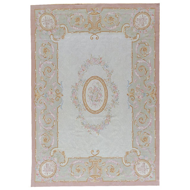 "Pasargad Aubusson Hand Woven Wool Rug - 8' 9"" X 12' 3"" - Image 3 of 3"