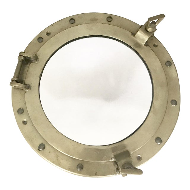 Brass Nautical Porthole Mirror - Image 1 of 4