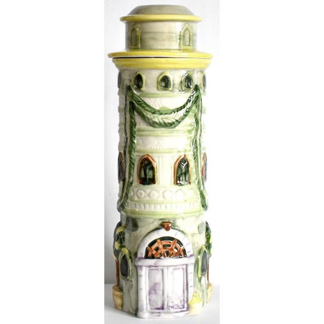 Vintage Italian Trompe l'Oeil Castle Pasta Canister For Sale - Image 9 of 9
