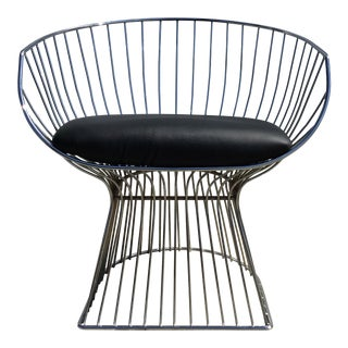 Vintage Mid Century Chrome Space Age Platner Style Lounge Chair For Sale