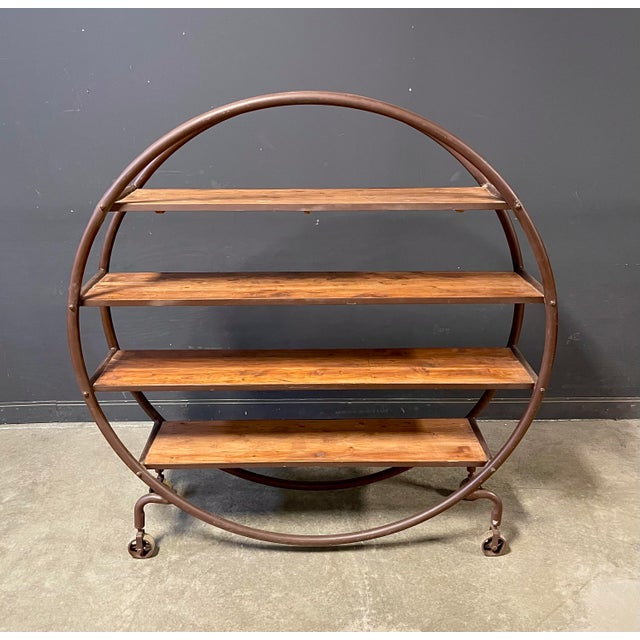 Early 1900's antique round bookshelf. Great shape and functionality.